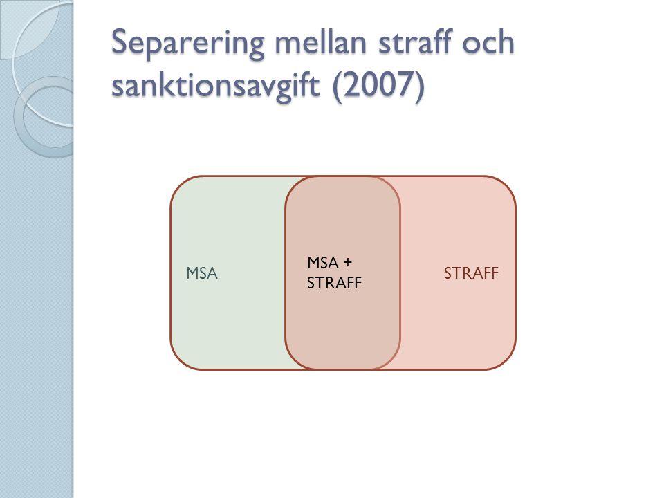 Separering mellan straff och sanktionsavgift (2007)