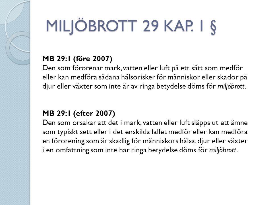 MILJÖBROTT 29 KAP. 1 § MB 29:1 (före 2007)