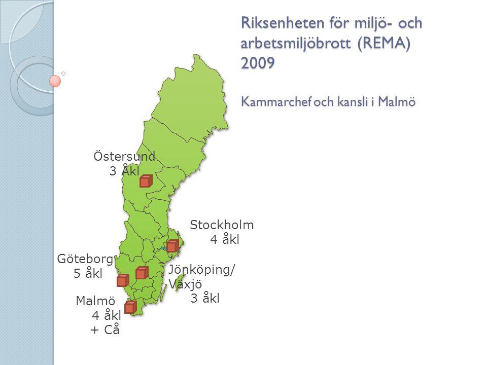 Riksenheten för miljö- och arbetsmiljöbrott (REMA) 2009 Kammarchef och kansli i Malmö