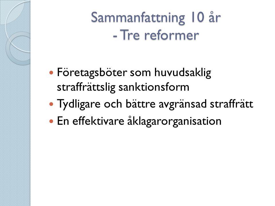 Sammanfattning 10 år - Tre reformer