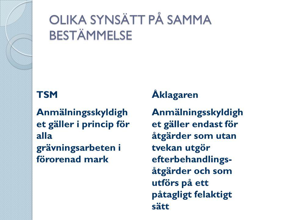 OLIKA SYNSÄTT PÅ SAMMA BESTÄMMELSE