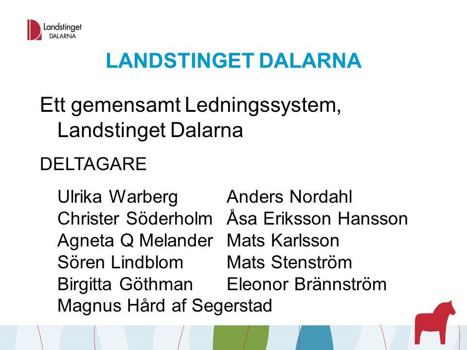 Ett gemensamt Ledningssystem, Landstinget Dalarna