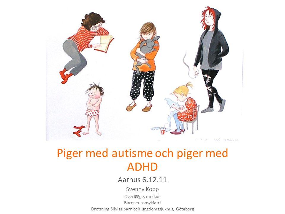 Piger med autisme och piger med ADHD