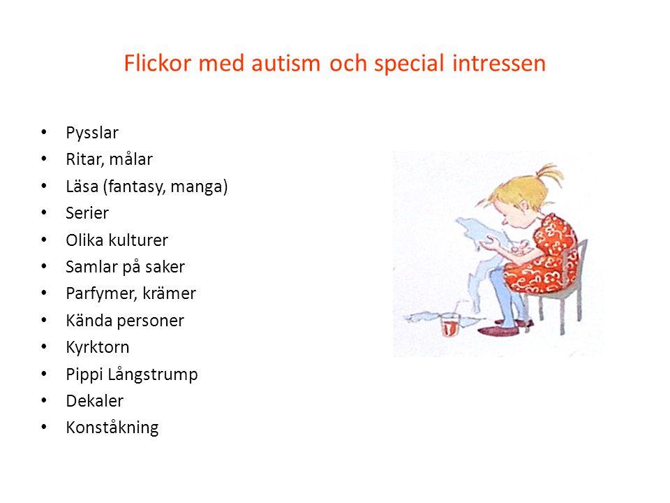 Flickor med autism och special intressen