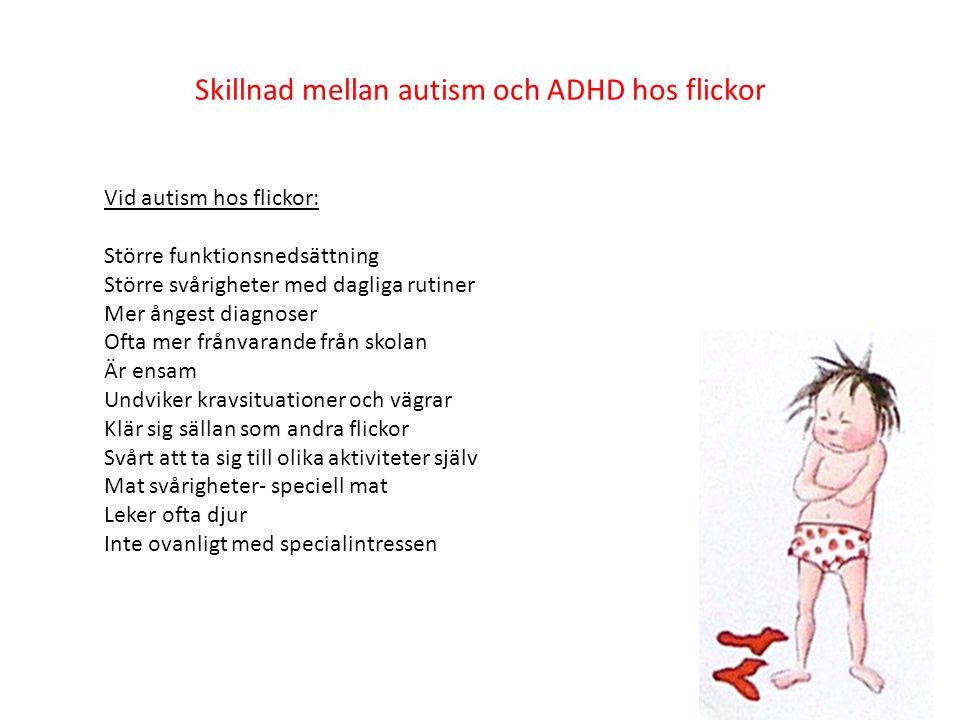 Skillnad mellan autism och ADHD hos flickor