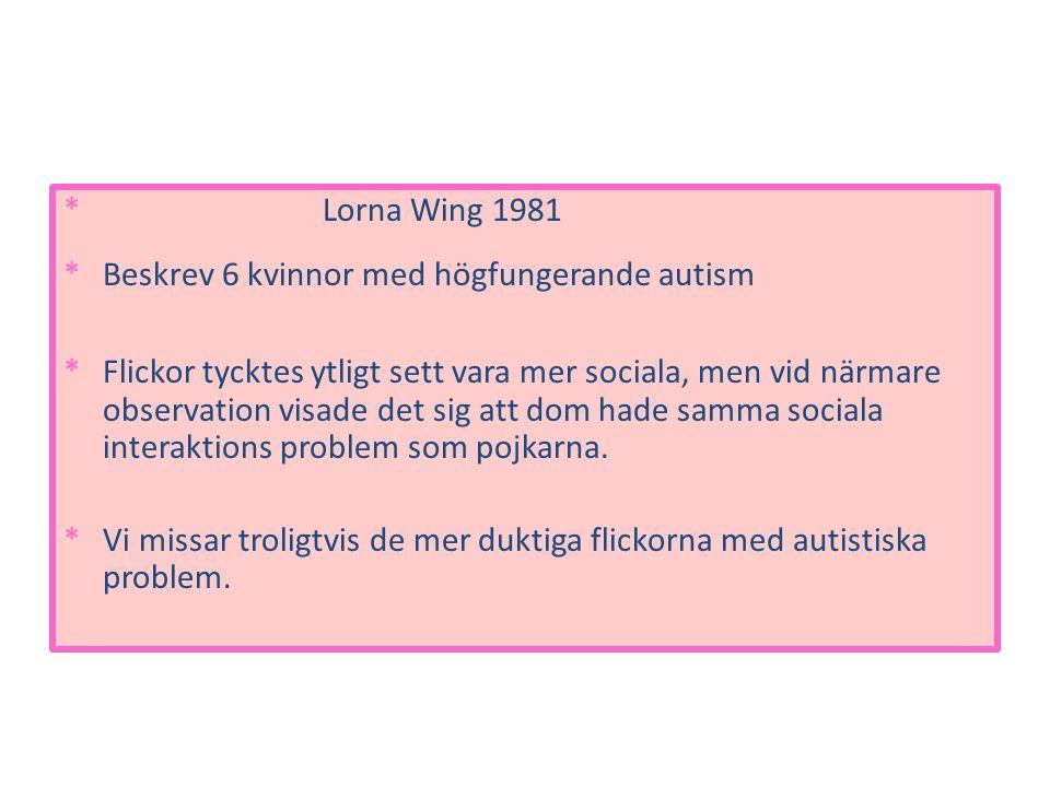 Beskrev 6 kvinnor med högfungerande autism