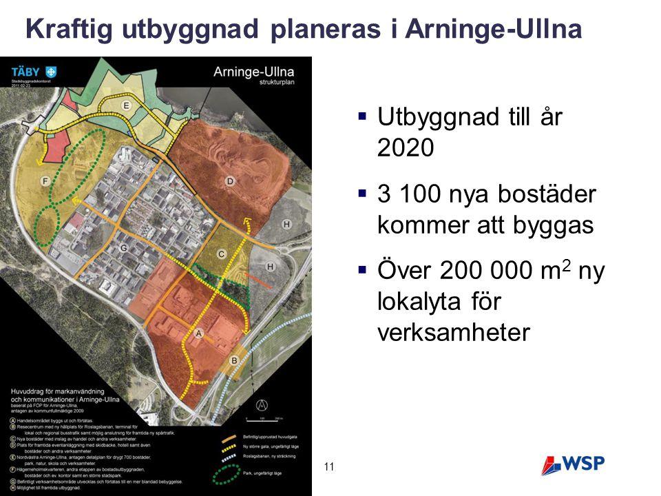 Kraftig utbyggnad planeras i Arninge-Ullna