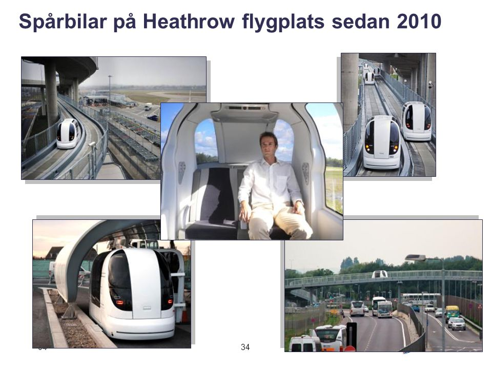 Spårbilar på Heathrow flygplats sedan 2010