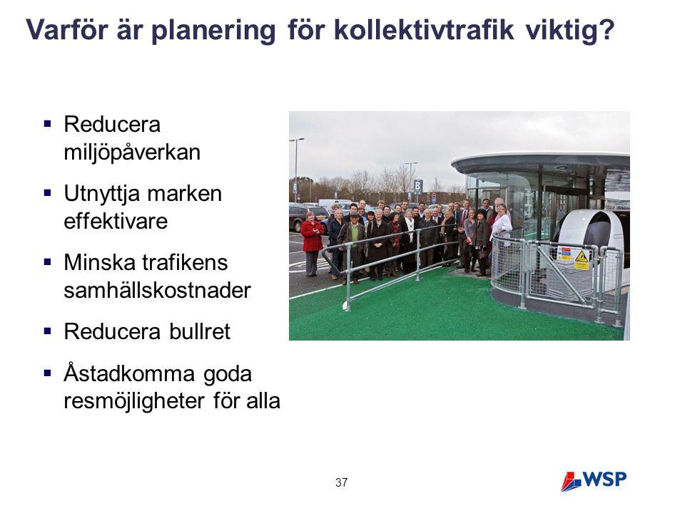 Varför är planering för kollektivtrafik viktig