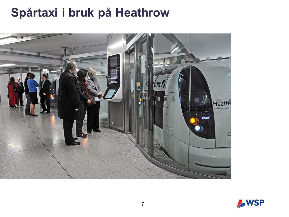 Spårtaxi i bruk på Heathrow