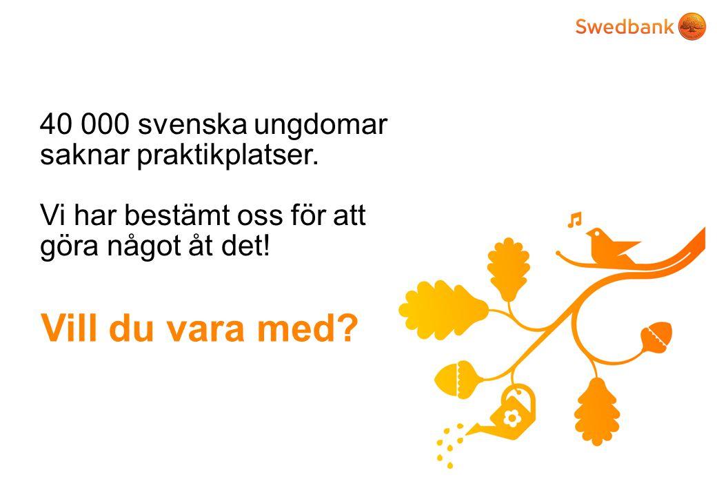 40 000 svenska ungdomar saknar praktikplatser