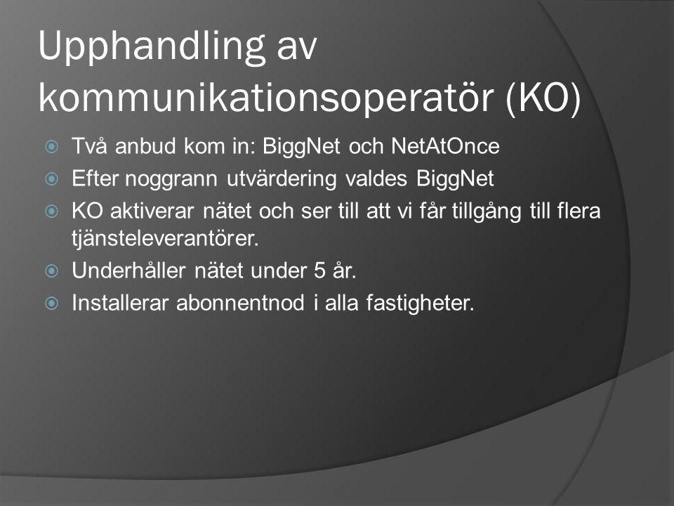 Upphandling av kommunikationsoperatör (KO)