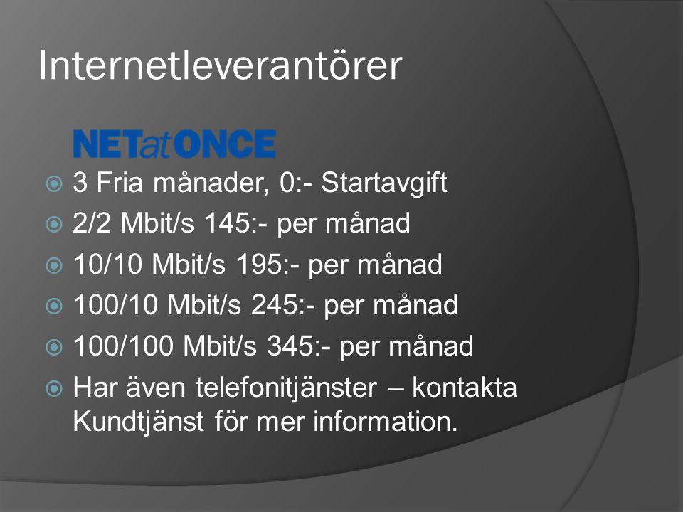 Internetleverantörer