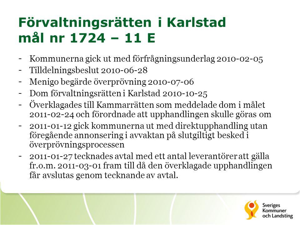 Förvaltningsrätten i Karlstad mål nr 1724 – 11 E