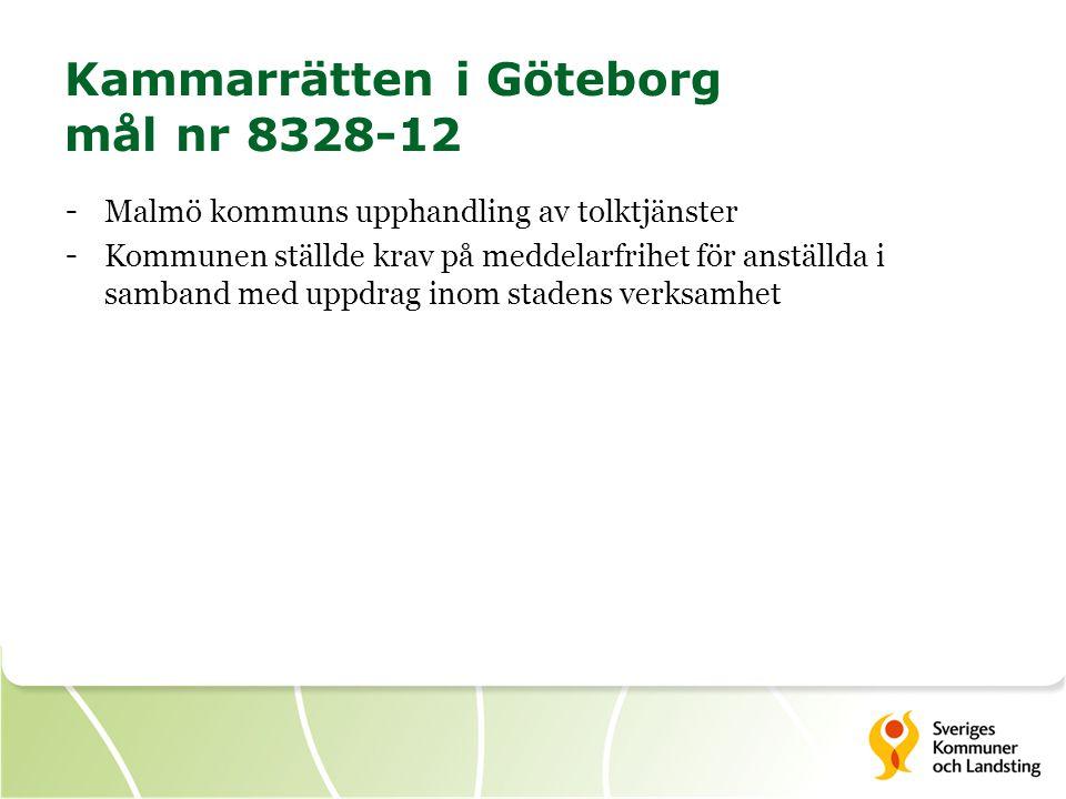 Kammarrätten i Göteborg mål nr 8328-12