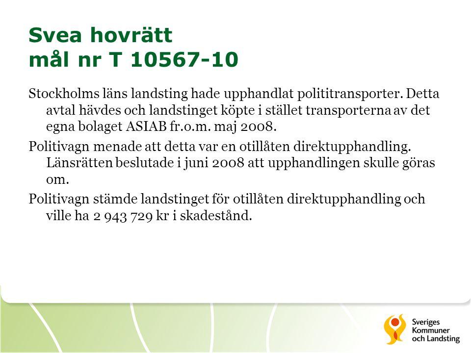 Svea hovrätt mål nr T 10567-10