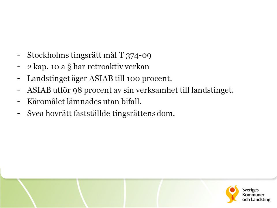 Stockholms tingsrätt mål T 374-09