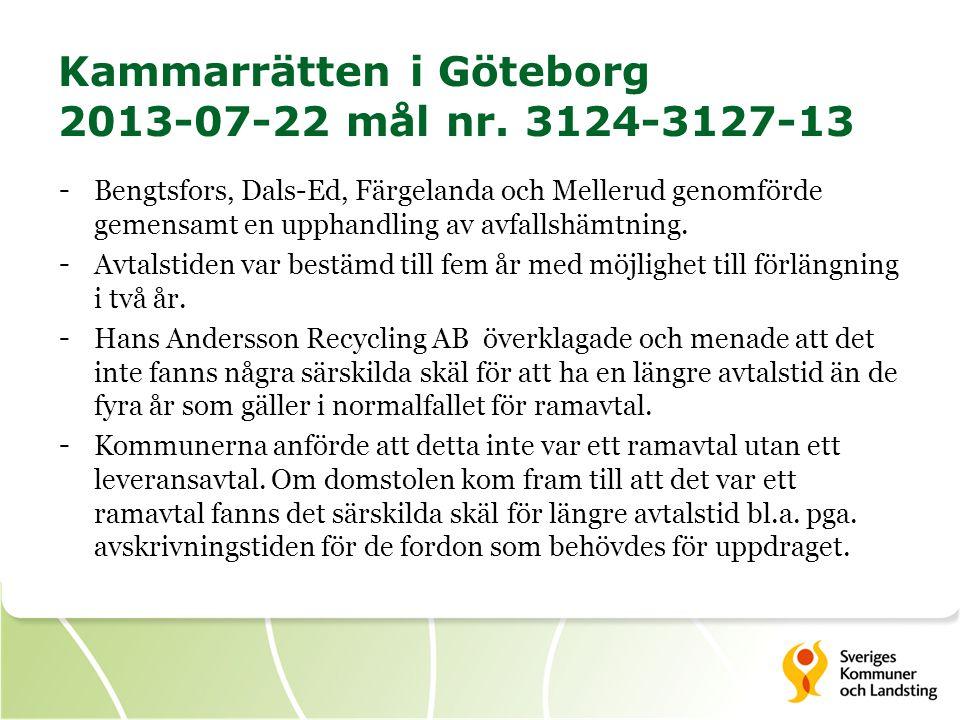 Kammarrätten i Göteborg 2013-07-22 mål nr. 3124-3127-13