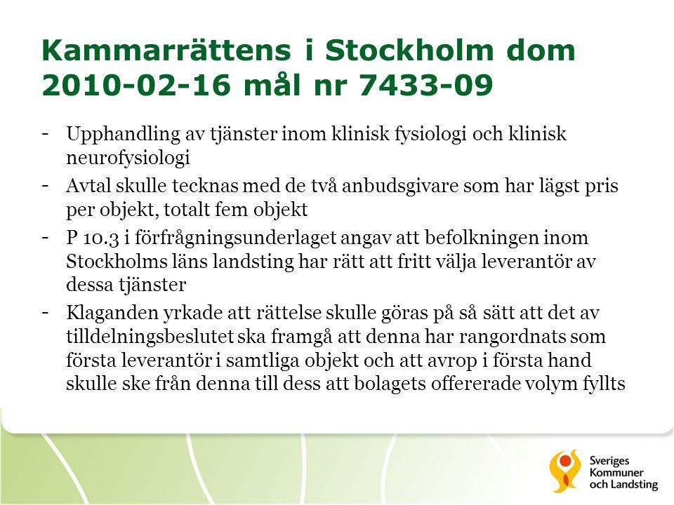 Kammarrättens i Stockholm dom 2010-02-16 mål nr 7433-09