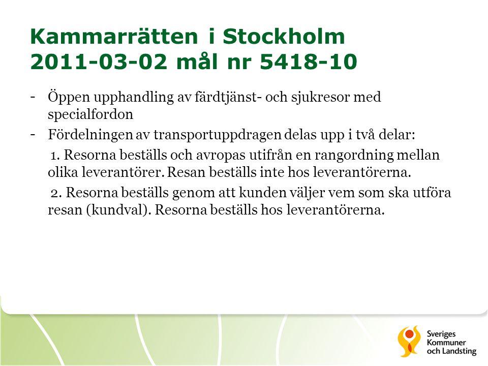 Kammarrätten i Stockholm 2011-03-02 mål nr 5418-10