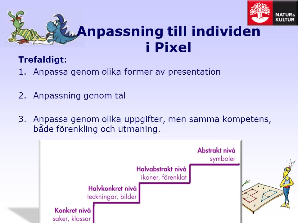Anpassning till individen i Pixel