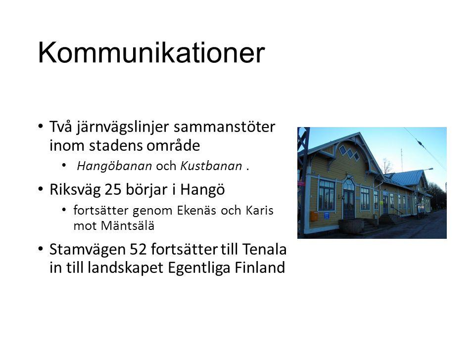 Kommunikationer Två järnvägslinjer sammanstöter inom stadens område