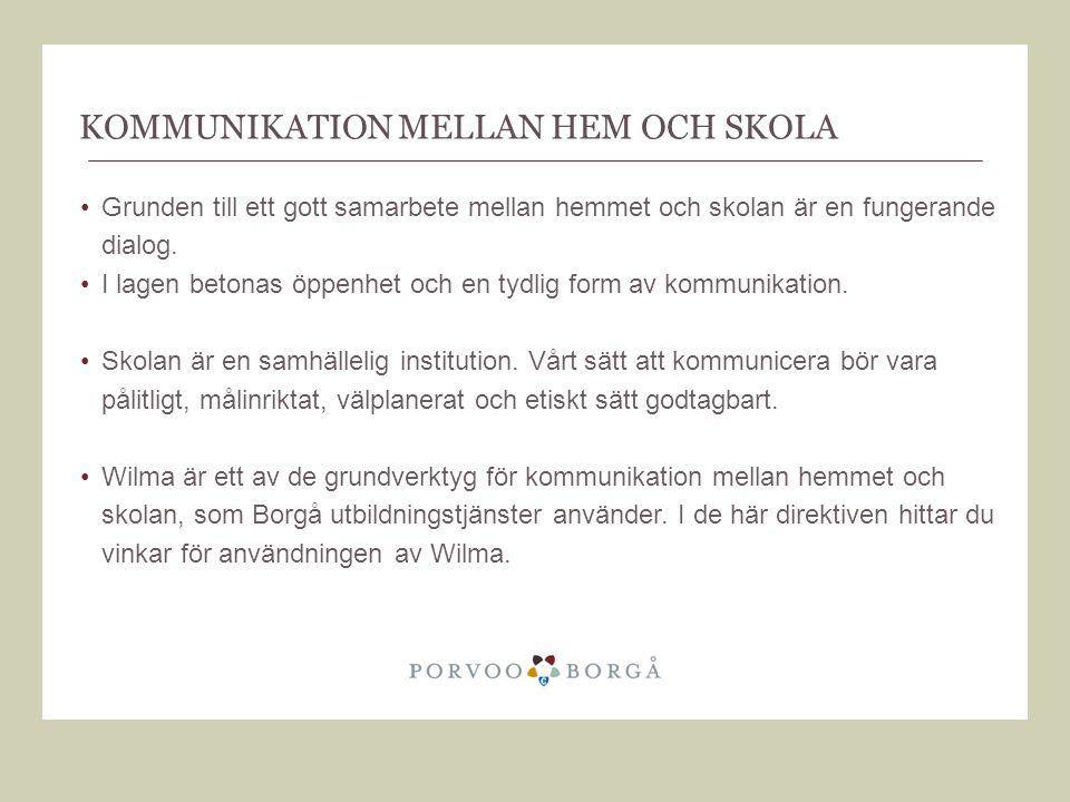 Kommunikation mellan hem och skola