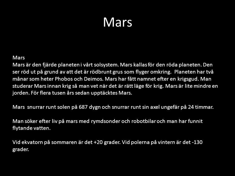 Mars Mars.