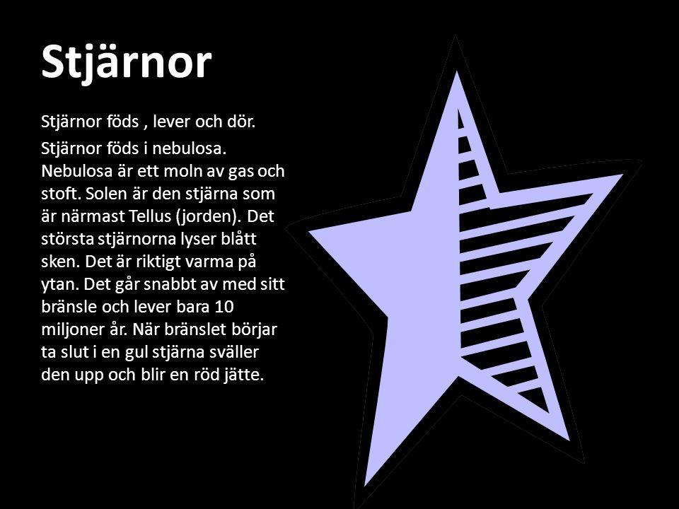Stjärnor Stjärnor föds , lever och dör.