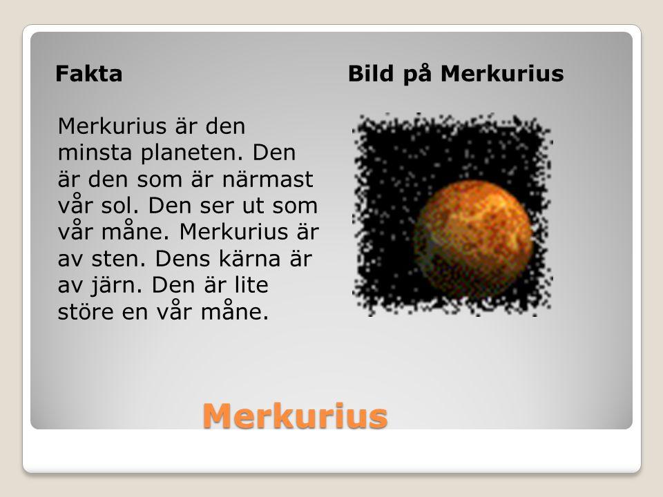 Merkurius Fakta Bild på Merkurius