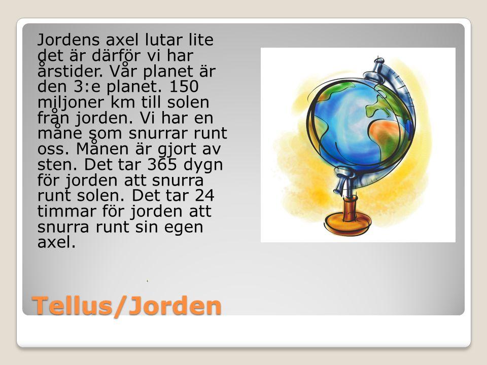 Jordens axel lutar lite det är därför vi har årstider
