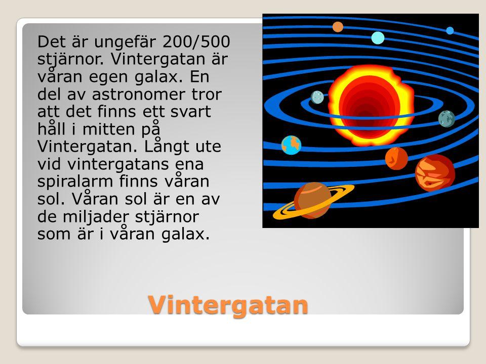 Det är ungefär 200/500 stjärnor. Vintergatan är våran egen galax