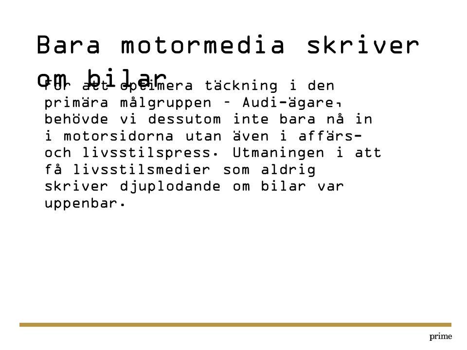 Bara motormedia skriver om bilar
