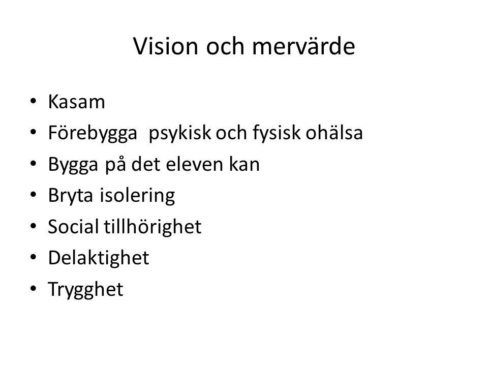 Vision och mervärde Kasam Förebygga psykisk och fysisk ohälsa