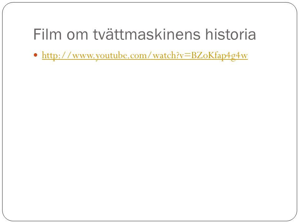 Film om tvättmaskinens historia