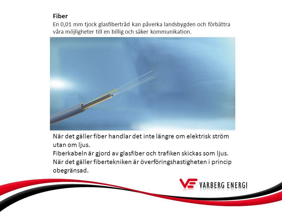 Fiber En 0,01 mm tjock glasfibertråd kan påverka landsbygden och förbättra