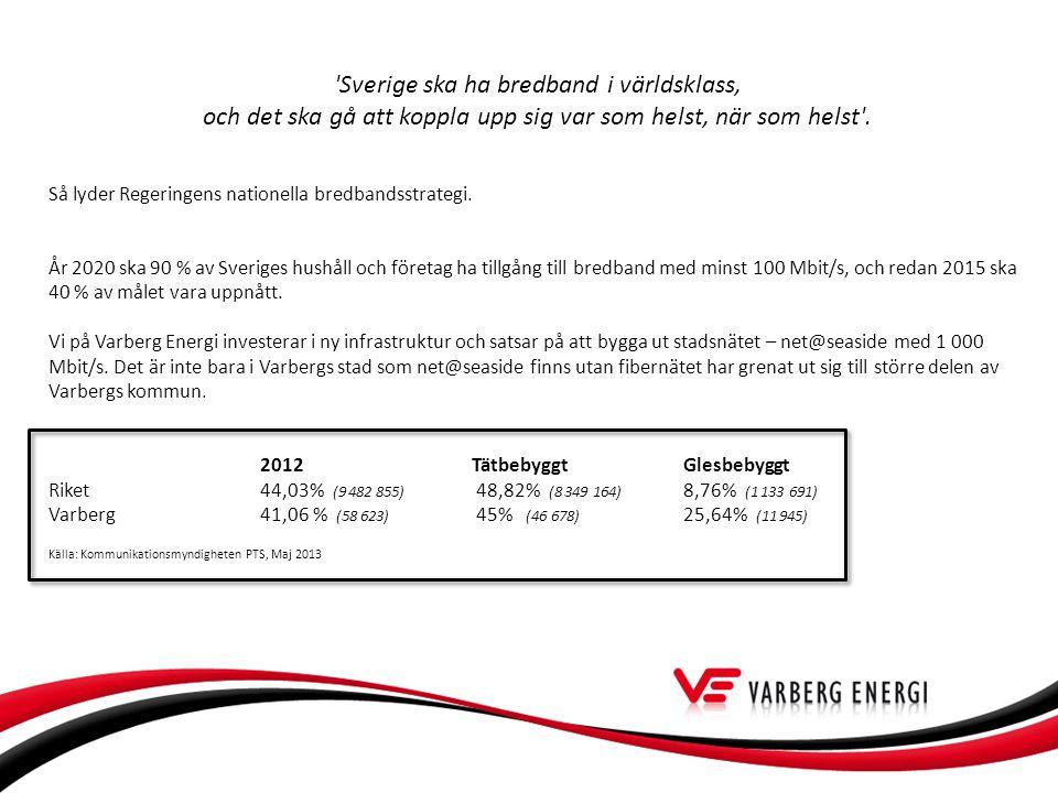 Sverige ska ha bredband i världsklass,