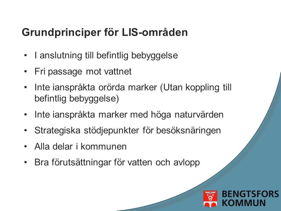 Grundprinciper för LIS-områden