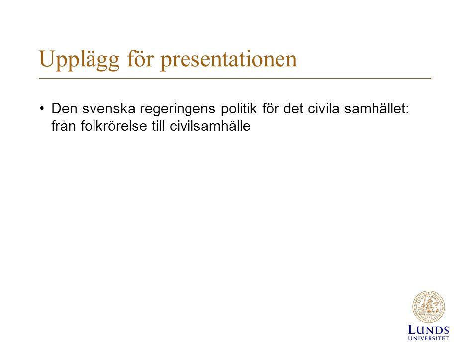 Upplägg för presentationen