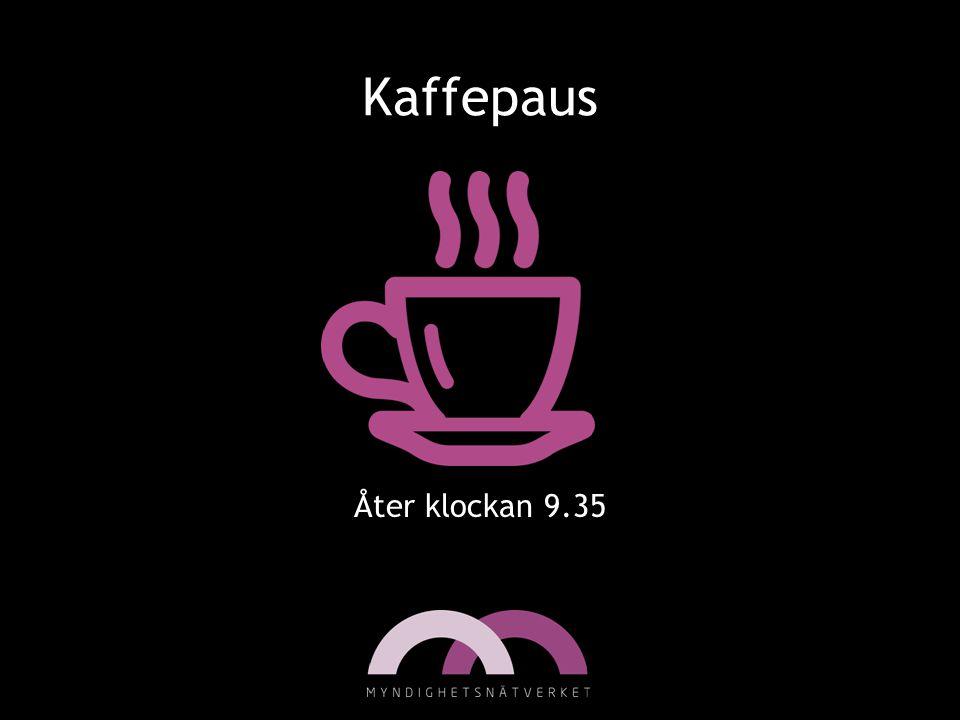 Kaffepaus Åter klockan 9.35
