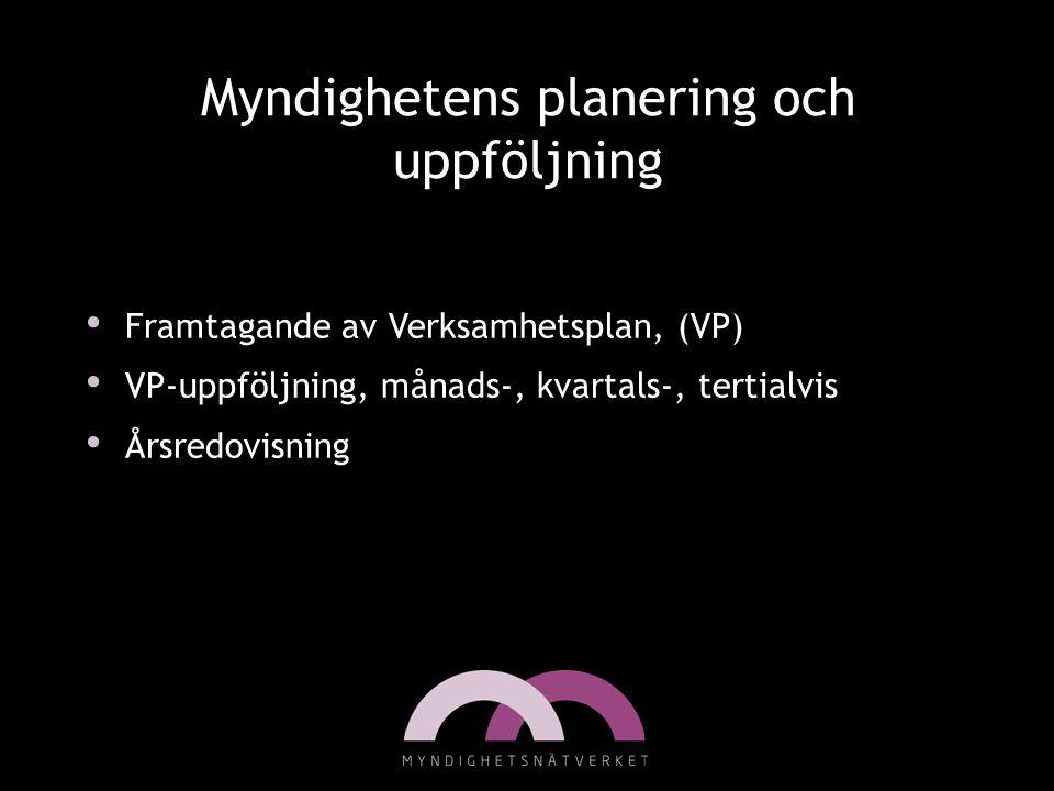 Myndighetens planering och uppföljning