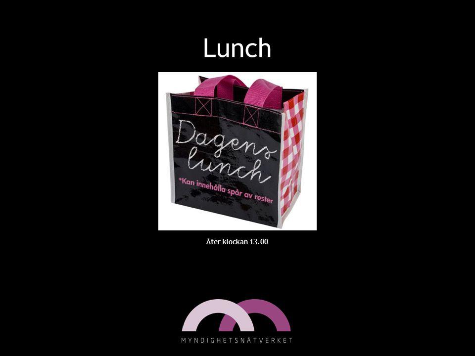 Lunch Åter klockan 13.00 12-13