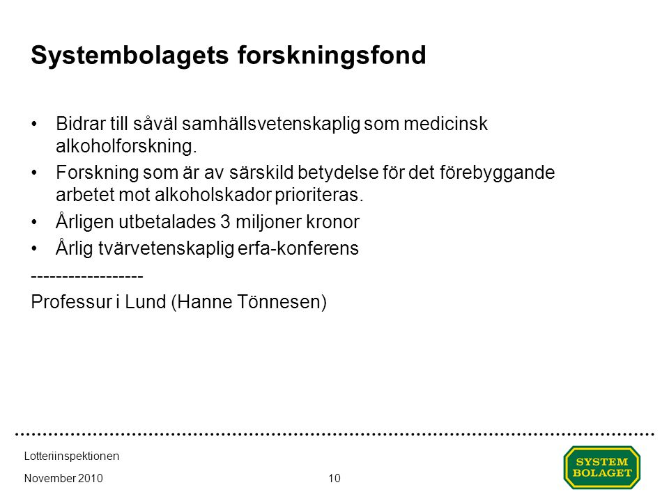Systembolagets forskningsfond