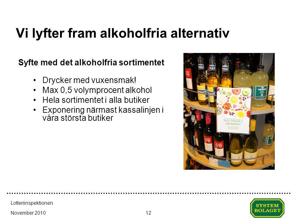 Vi lyfter fram alkoholfria alternativ