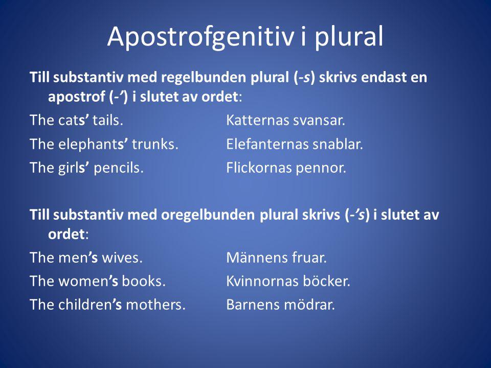 Apostrofgenitiv i plural