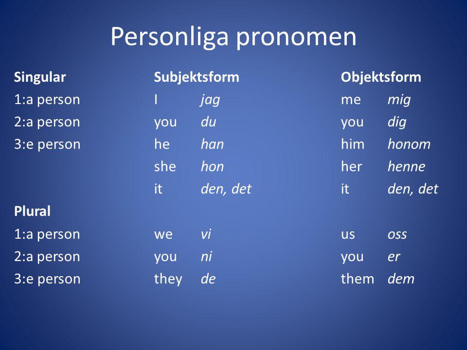 Personliga pronomen