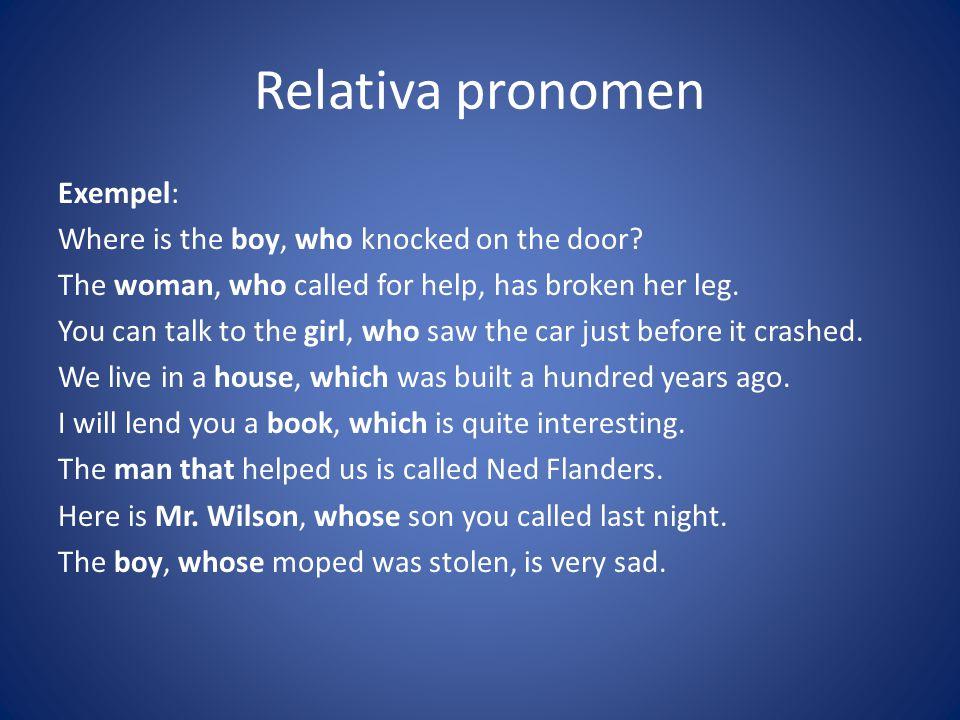 Relativa pronomen