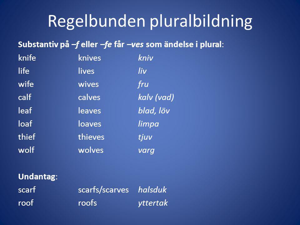 Regelbunden pluralbildning