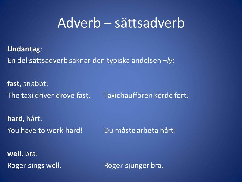 Adverb – sättsadverb