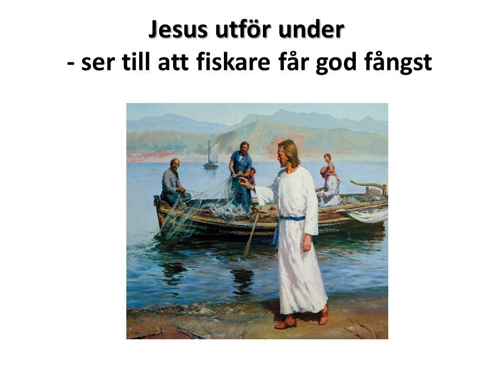 Jesus utför under - ser till att fiskare får god fångst